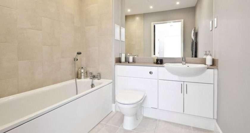 Beige Grey White Bathroom