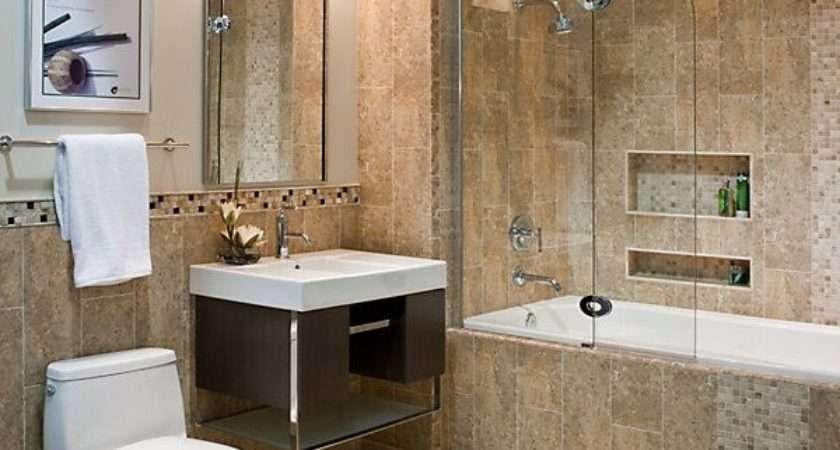 Beige Stone Bathroom Tiles Ideas