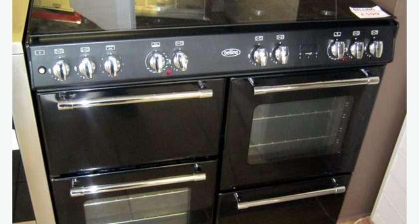 Belling Black Dual Fuel Range Cooker Glass Lid