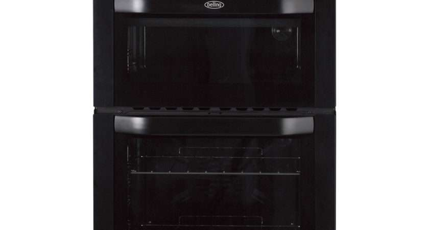 Belling Built Electric Double Oven Black