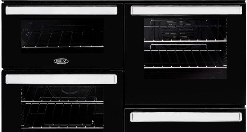 Belling Cookcentre Dft Black Dual Fuel Range