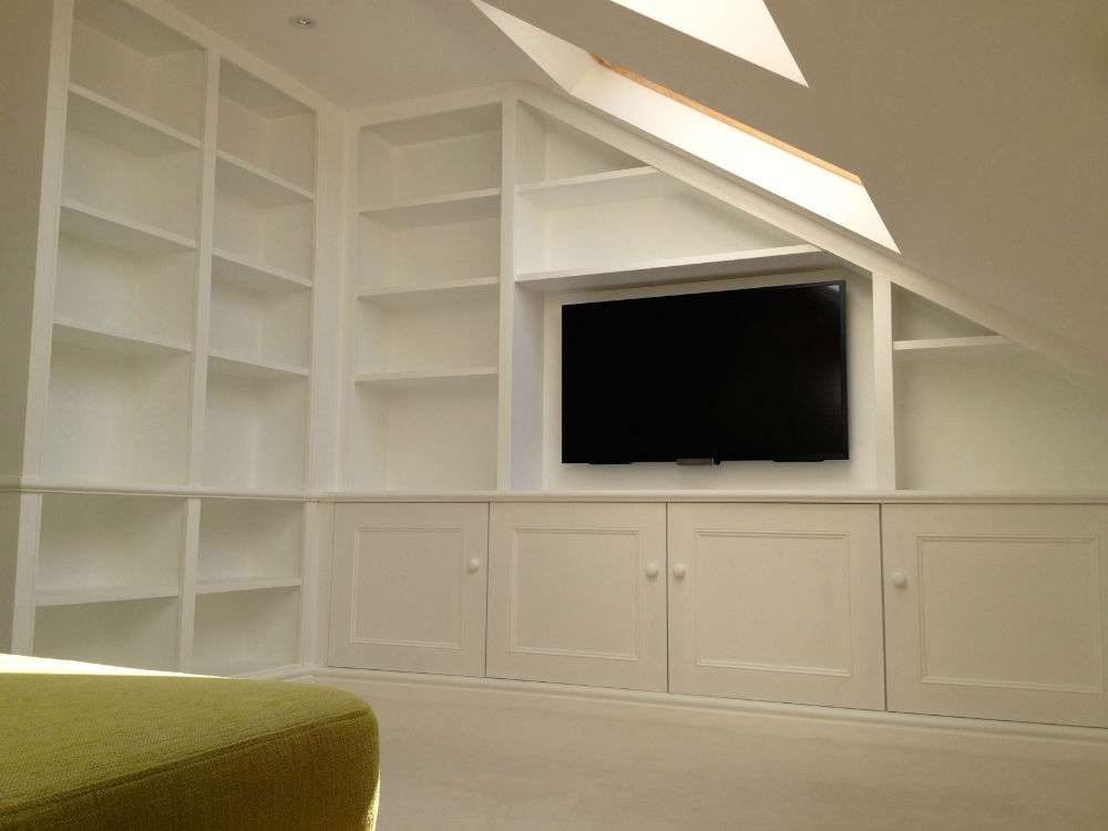 Bespoke Shelving Unit Wimbledon Loft Conversion Bookcase