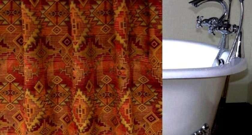 Bessie Gulch Chenille Luxury Custom Shower Curtain