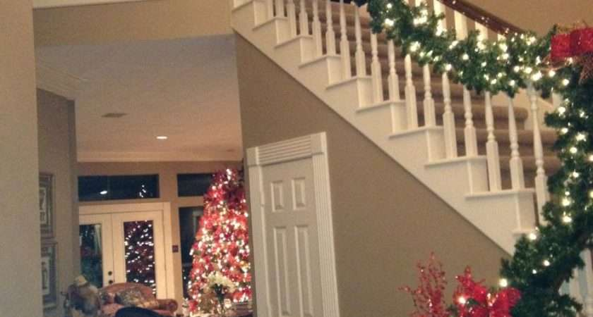 Best Christmas Stair Decor Pinterest