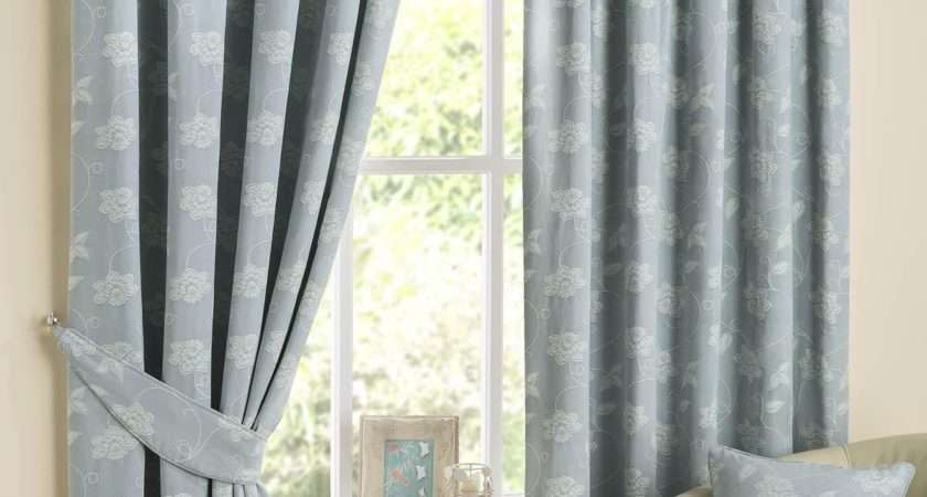 Best Collection Duck Egg Blue Striped Curtains