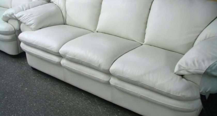 Best Collection Off White Leather Sofa Loveseat