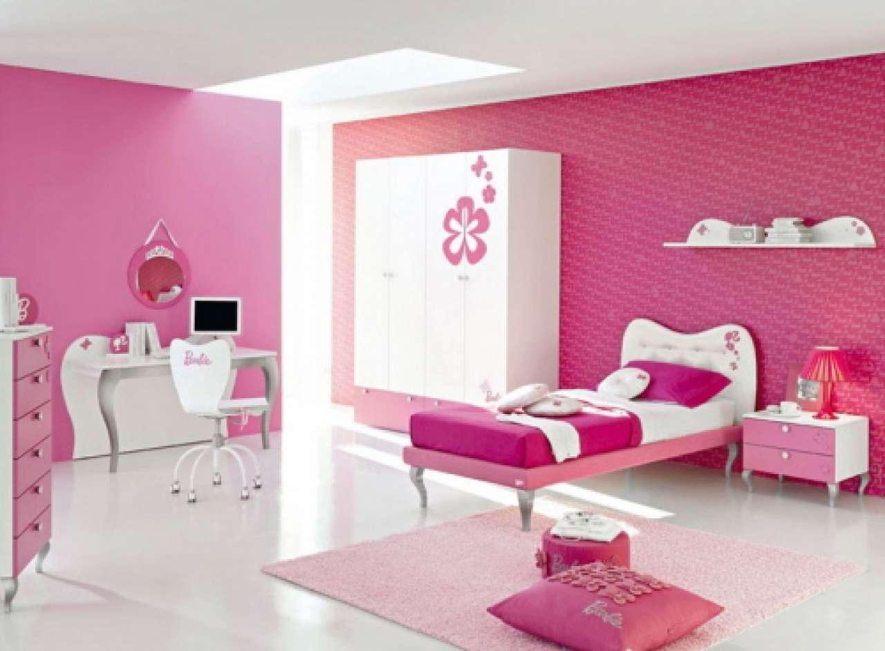 Best Decoration Teen Girl Bedroom Interior Pink