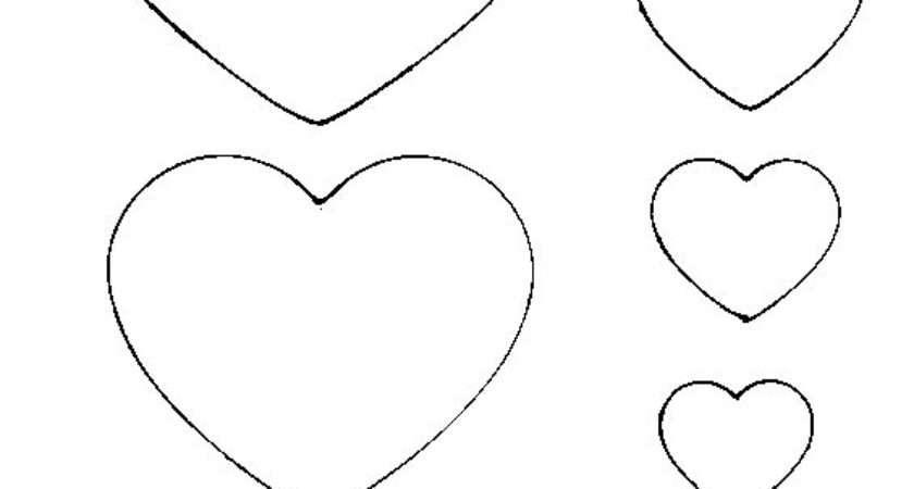 Best Heart Template Ideas Pinterest Printable
