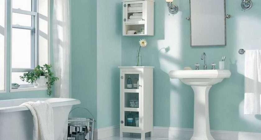 Best Paint Color Bathroom Using Light Blue Wall
