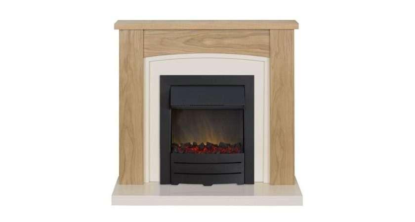 Best Price Adam Chilton Oak Cream Electric Fireplace Suite
