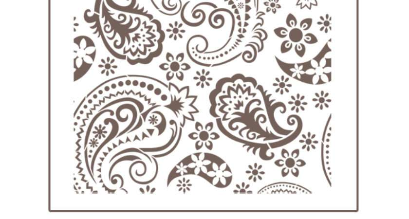 Best Printable Paisley Stencil Designs