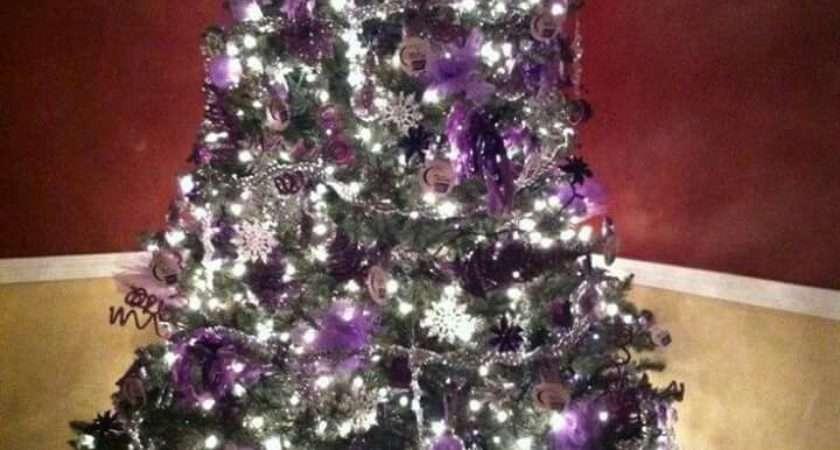 Best Purple Silver Christmas Pinterest