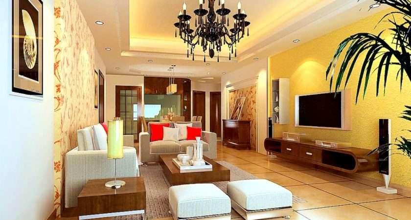 Best Yellow Monochrome Living Room Decorating