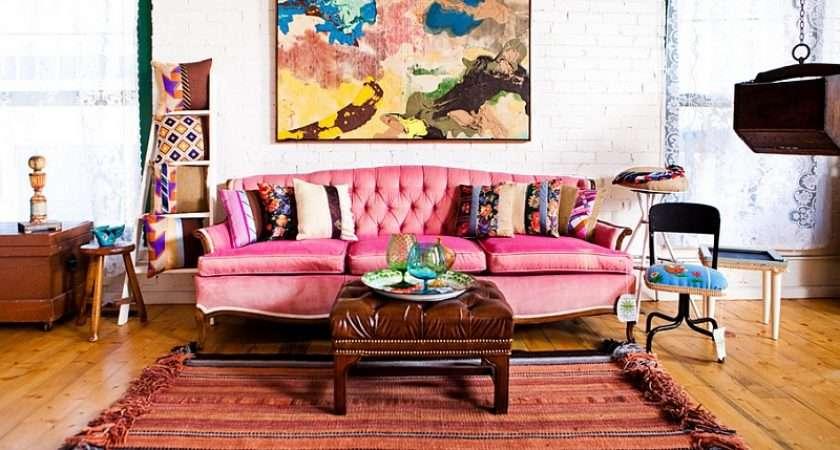 Between Eclectic Bohemian Styles Living Room