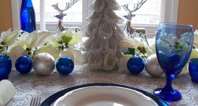 Beyond Garden Gate Christmas Blue White