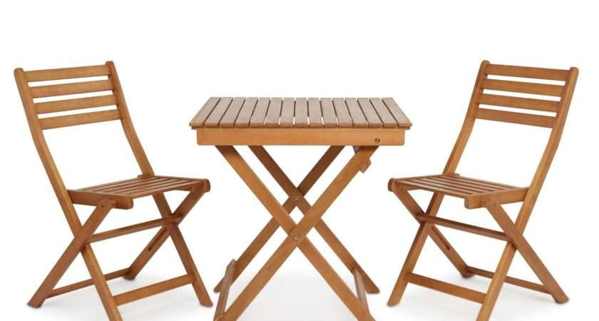 Bistro Solid Hard Wood Folding Table Chairs Set