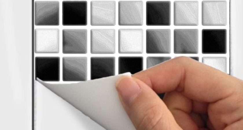 Black Bathroom Tile Stickers Ideas