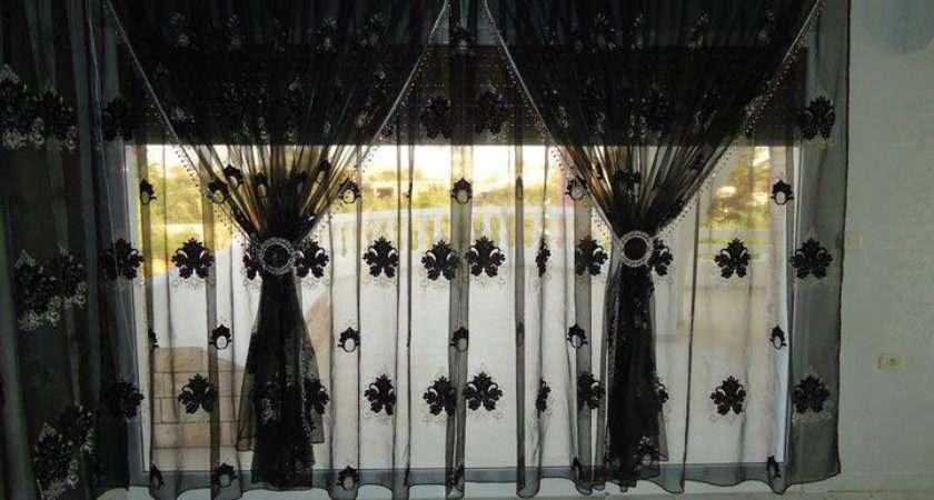 Black Curtain Design Living Room Style