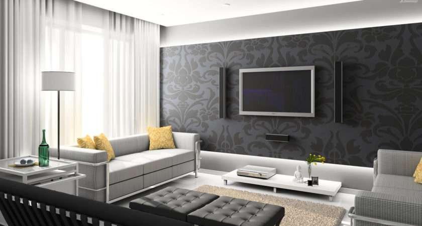 Black Digital Interior Home Theater Room