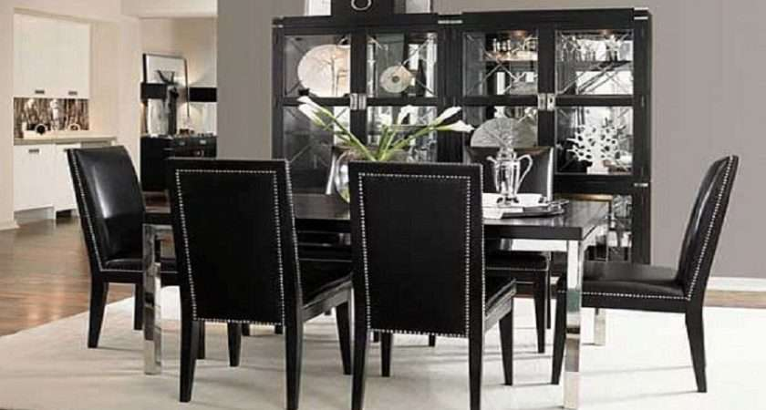 Black Dining Room Chairs Design Ideas White