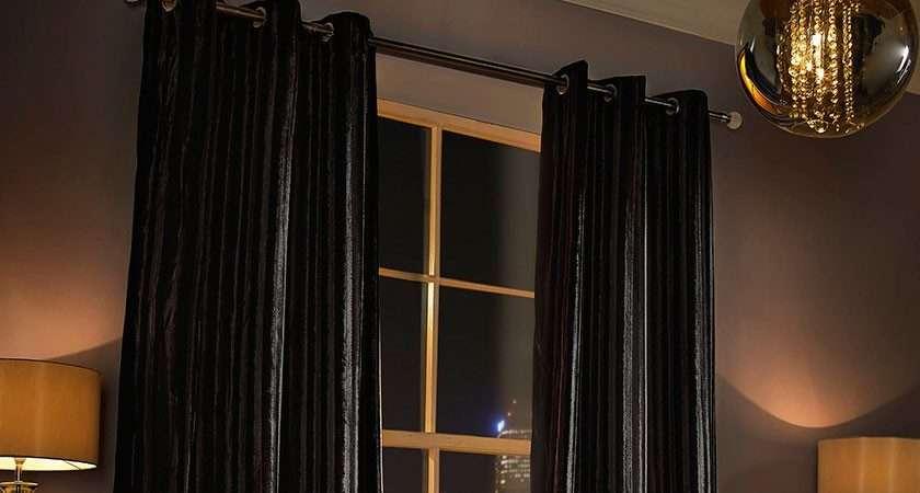 Black Eyelet Curtains Kylie Minogue Fishpools