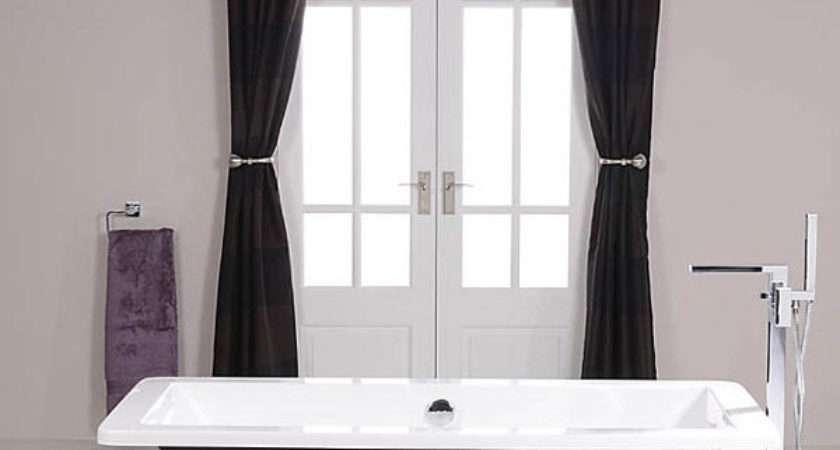 Black Freestanding Bath Tub Modern Roll Top Bathroom