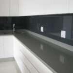 Black Glass Coloured Splashback Furniture