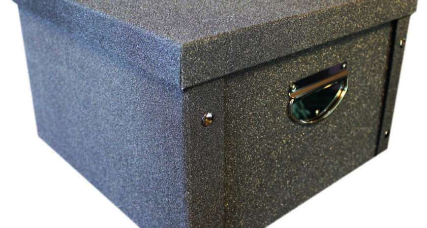 Black Glitter Collapsible Storage Box Boxes