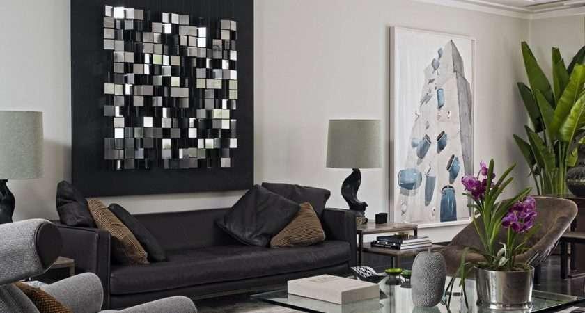 Black Leather Sofa Living Room Decorating Ideas