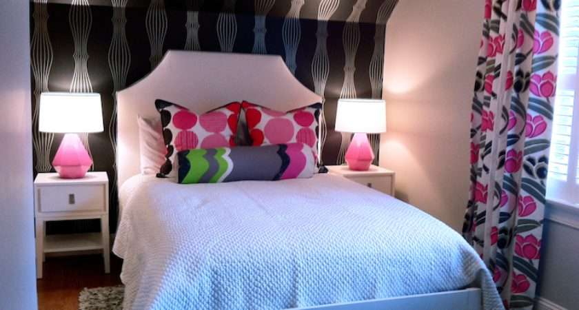 Black Pink Teen Room Contemporary Girl Lucy Company