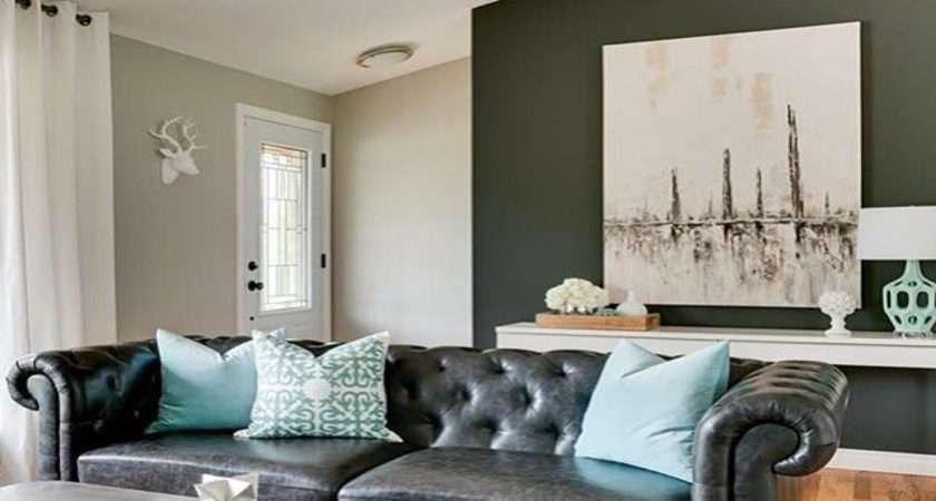 Black Sofa Living Room Turquoise
