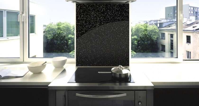 Black Sparkle Toughened Splashback Esquire Glass