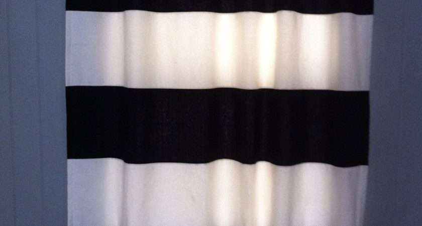 Black Striped Curtains Interior Endearing