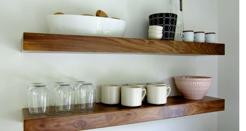 Black Walnut Floating Shelf Bswoodworks Etsy