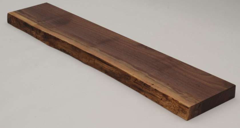 Black Walnut Live Edge Floating Shelf Item Treecyclenw