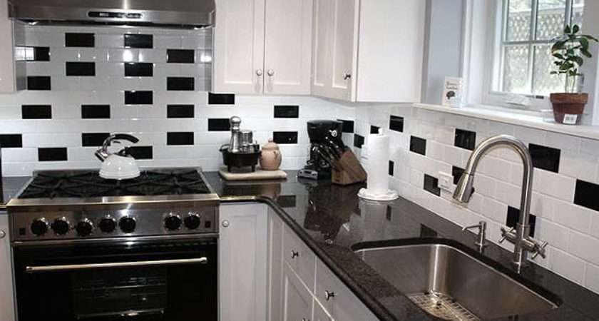 Black White Backsplash Tile Photos