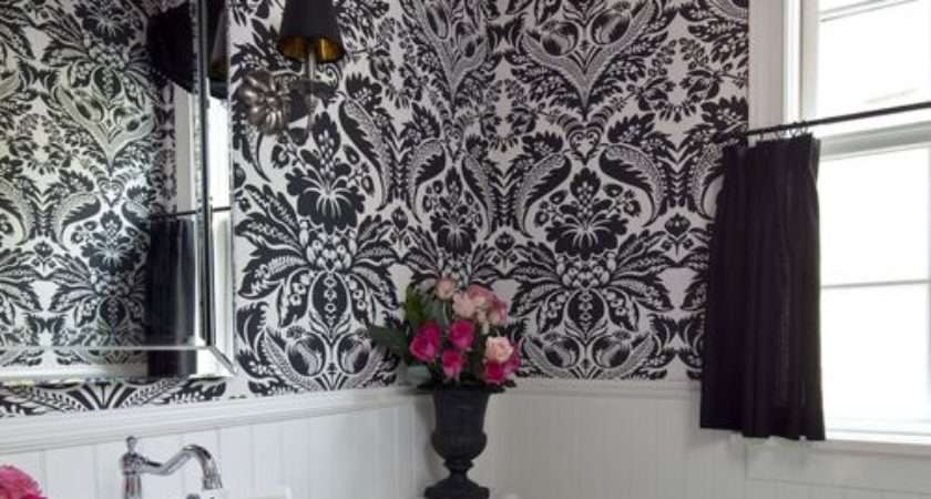 Black White Bathroom Houzz