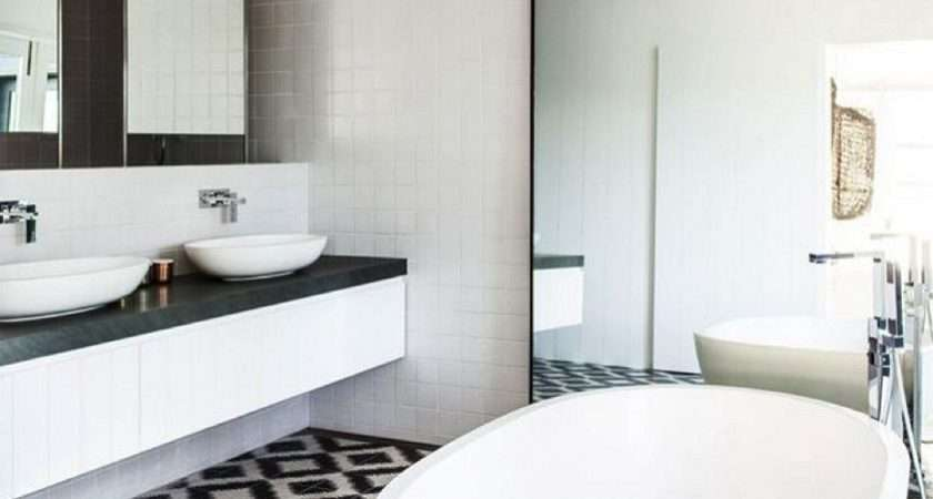 Black White Bathroom Wall Tile Designs