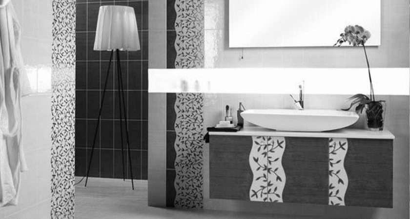 Black White Bathroom Wall Tile Designs