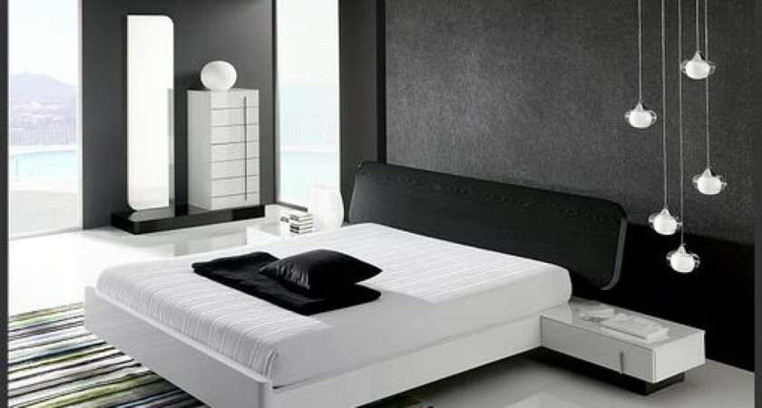 Black White Bedroom Interior Design Minimalist