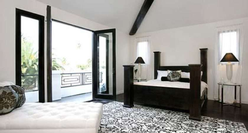 Black White Bedroom Paint Ideas Grasscloth