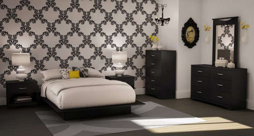 Black White Bedrooms Symbol Comfort Elegant