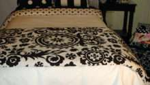 Black White Damask Medalliondorm Room Bedding Decor
