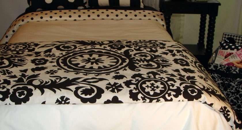 Black White Damask Medalliondorm Room Bedding Decor