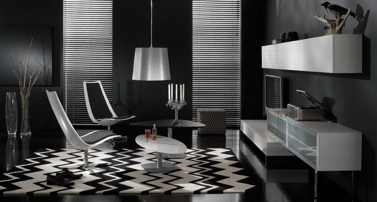 Black White Design Living Room Inspiring