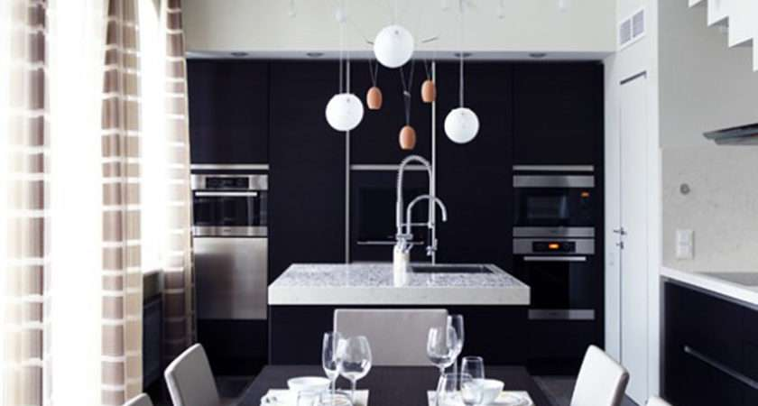 Black White Dining Room Decor One Total Pics Contemporary