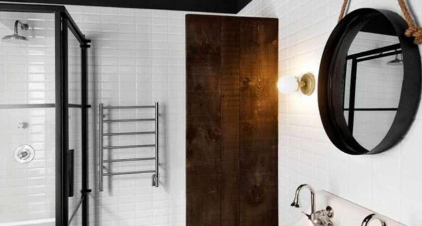 Black White Hexagon Bathroom Floor Tile Ideas