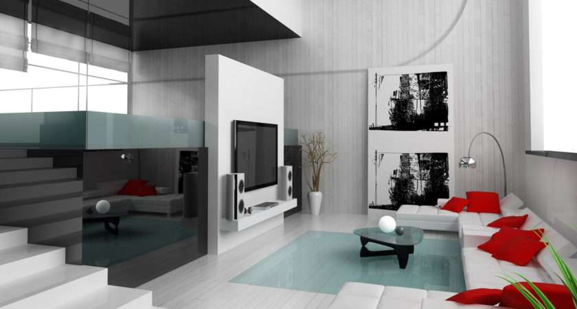 Black White Home Theater Room