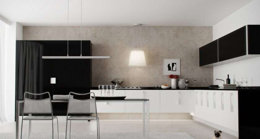 Black White Kitchen Cabinet Design Olpos