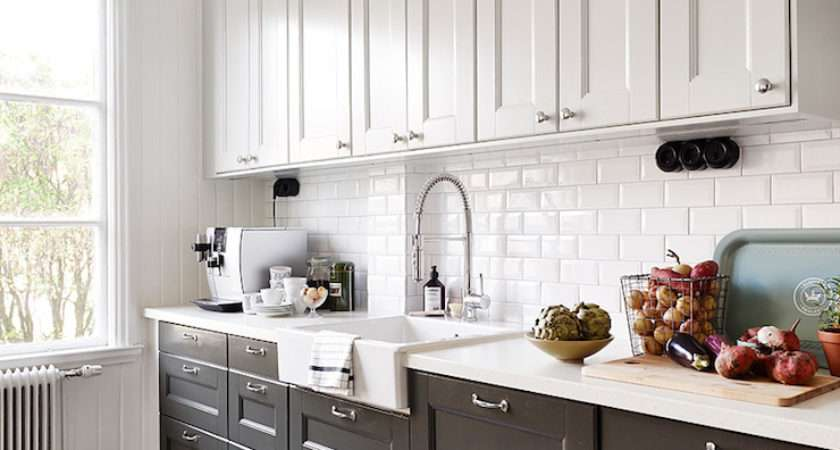 Black White Kitchen Transitional Stadshem